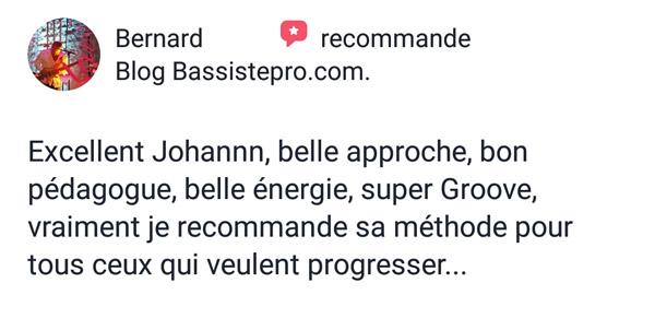 Témoignage bassistepro université Groove like a pig Bernard