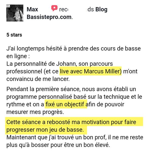 Témoignage bassistepro université Groove like a pig Maxime