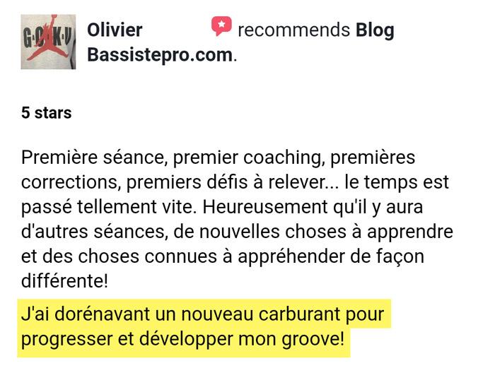 Témoignage bassistepro université Groove like a pig Olivier