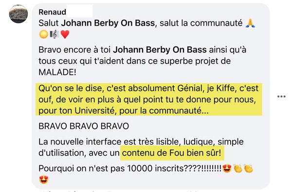 Témoignage bassistepro université Groove like a pig Renaud