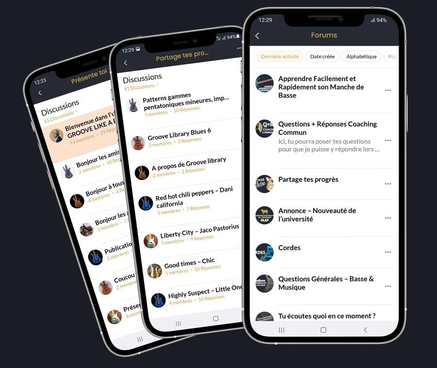 Application UGLAP® Forums
